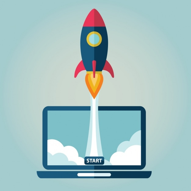 The launch of a website Free Vector