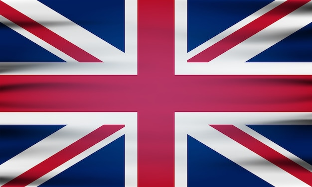 Государственный флаг великобритании Premium векторы
