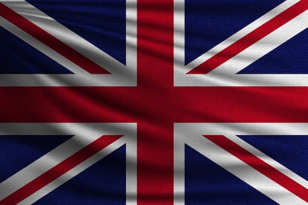 イギリスの国旗。 Premiumベクター