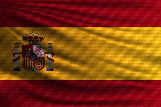 スペインの国旗。 Premiumベクター