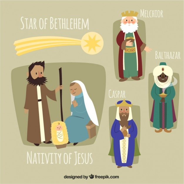 The nativity of jesus illustration