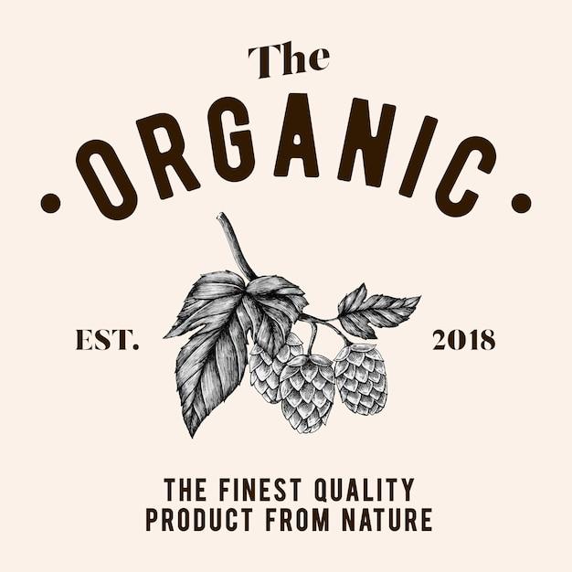 Логотип с логотипом органического логотипа Бесплатные векторы