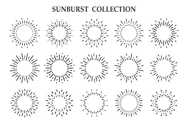 白い背景に分離された太陽光の放射光線の影 Premiumベクター