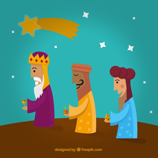the three wise men illustration vector | free download