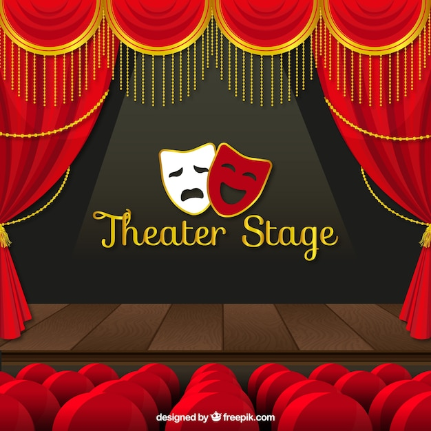 Theater stage background Free Vector
