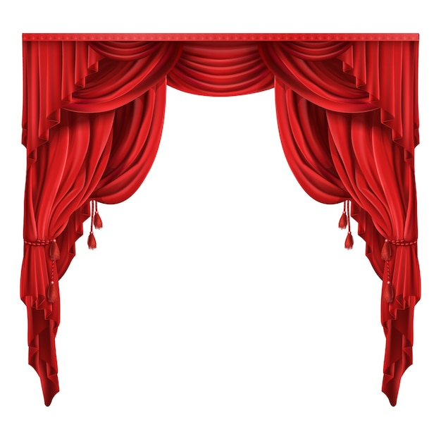 Theater stage red curtains realistic vector vector free download theater stage red curtains realistic vector free vector junglespirit Gallery