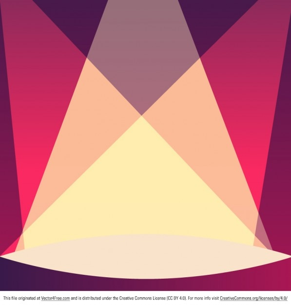 Theater Lights Background: Theater Stage With Lights Background Vector