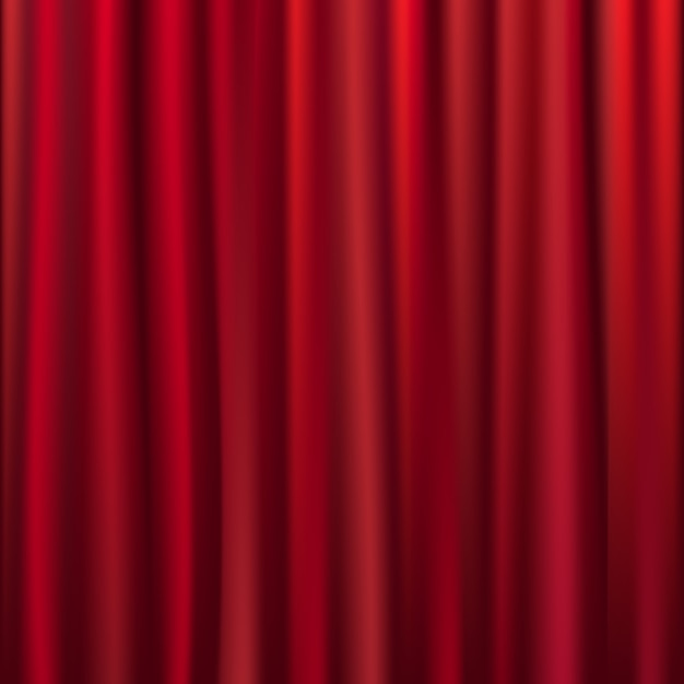 Theater velvet curtain with lights and shadows,  illustration Premium Vector