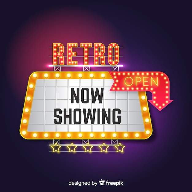 Theather sign Free Vector