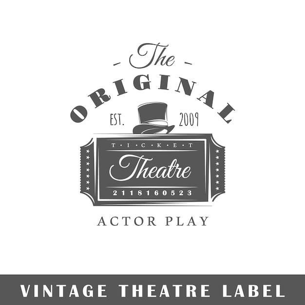 고립 된 극장 레이블입니다. 로고 템플릿 프리미엄 벡터
