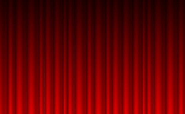 Theatre Red Curtain Background Vector Free Download