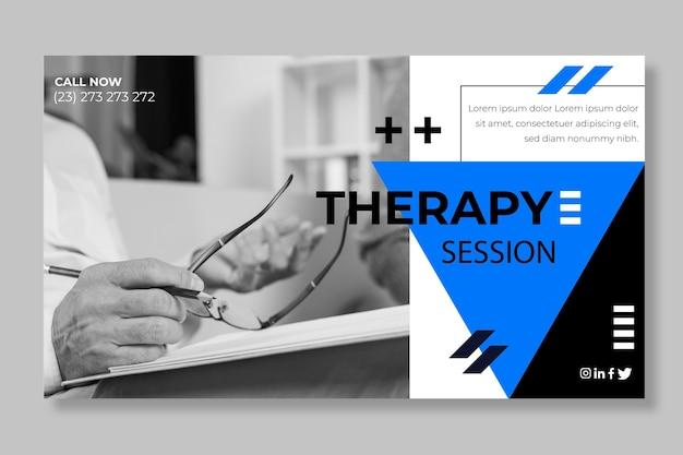Шаблон баннера сеансов терапии Premium векторы