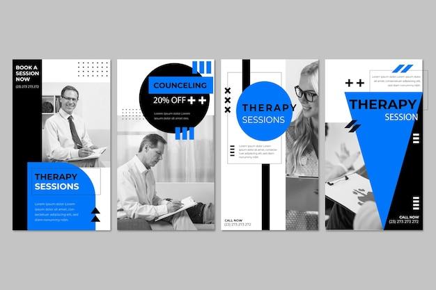 Modello di storie di instagram di sessioni di terapia Vettore gratuito