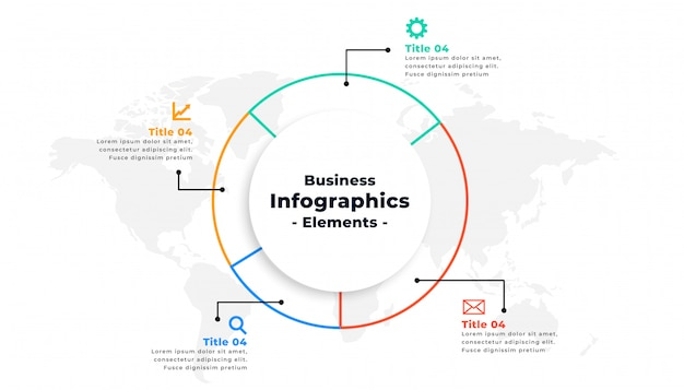 Thin line infographic business presentation concept design Free Vector
