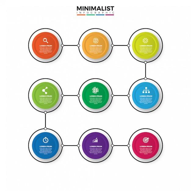 Thin line infographic design Premium Vector