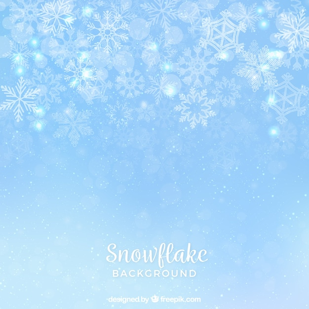 Thin snowflake background Free Vector