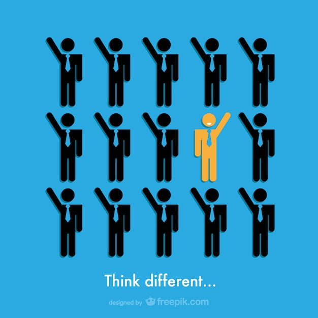Think different business design Free Vector