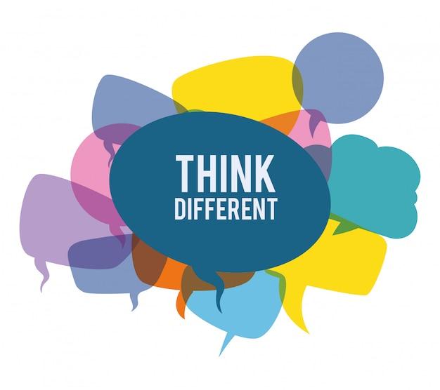 Think different design Premium Vector
