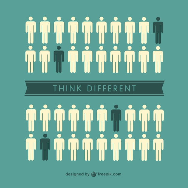 Think different individuals Free Vector