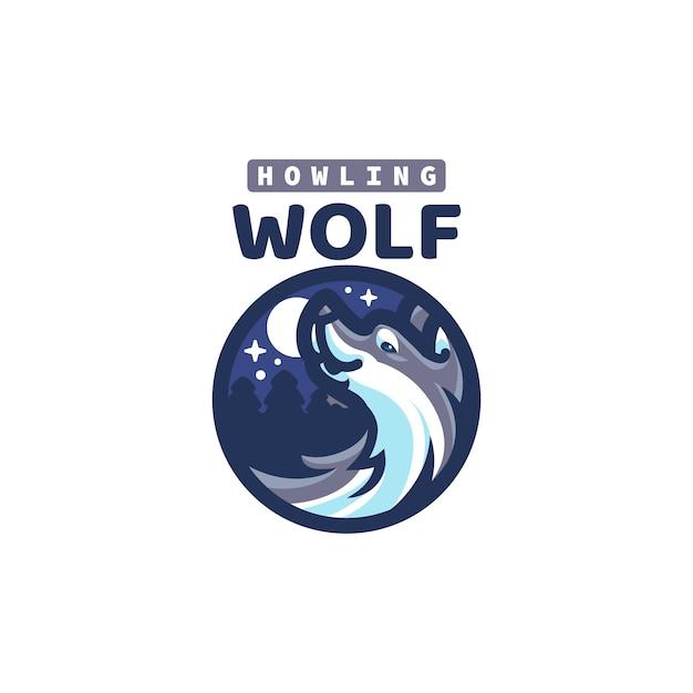 これはかわいいオオカミのマスコットのロゴです。このロゴは、レストラン、食品および飲料、ビジネスまたは会社のロゴに使用できます。 Premiumベクター