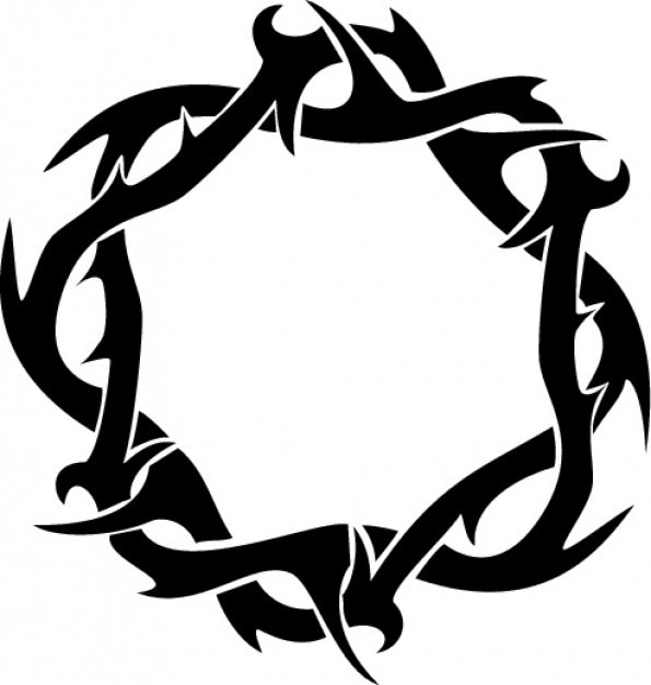 thorns crown ring clipart top view vector free download rh freepik com  jesus crown of thorns clipart