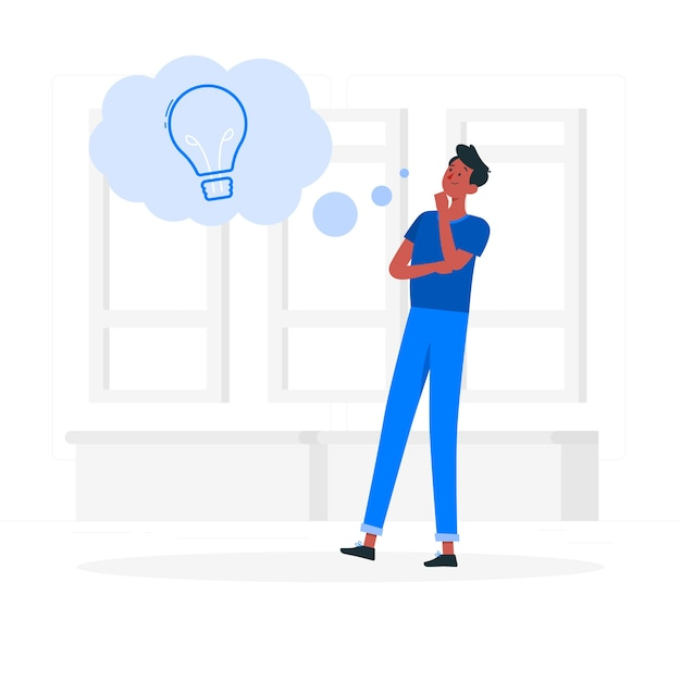 Thoughts concept illustration Free Vector