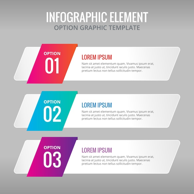 Three banners with colors for infographics Free Vector