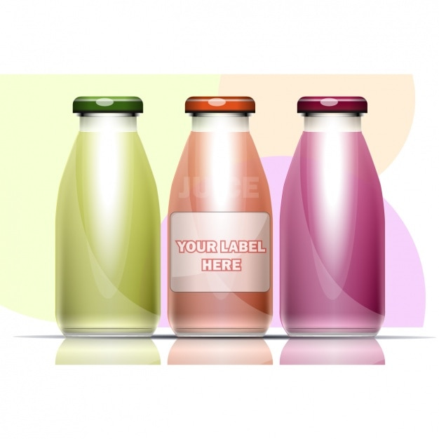 Three bottles Free Vector