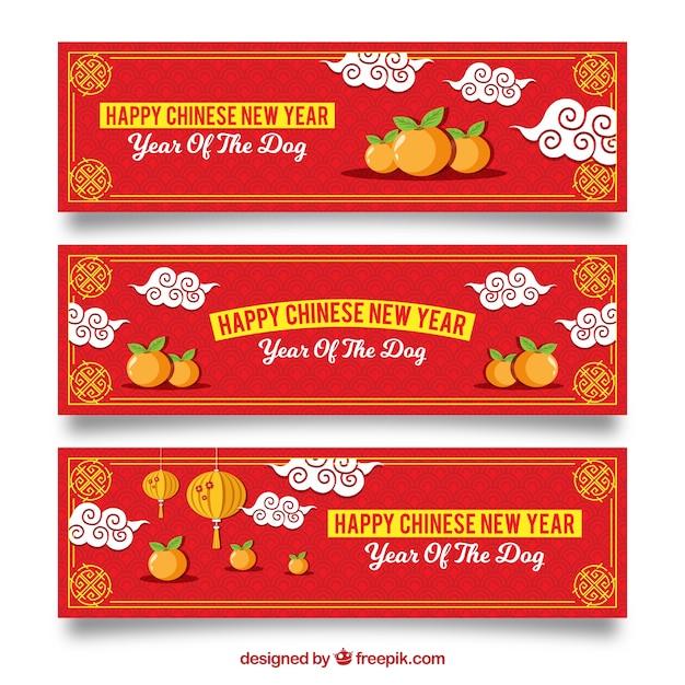 Three creative chinese new year banners
