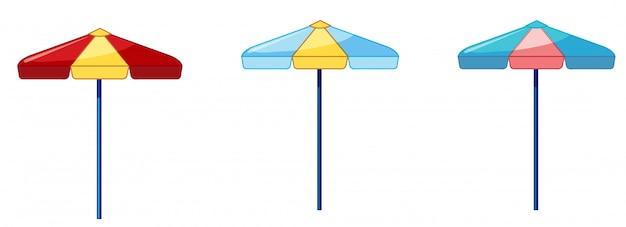 聖霊降臨祭の背景に3つの異なる色の傘 無料ベクター