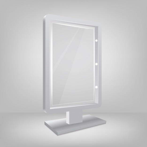 Three dimensional mirror Free Vector