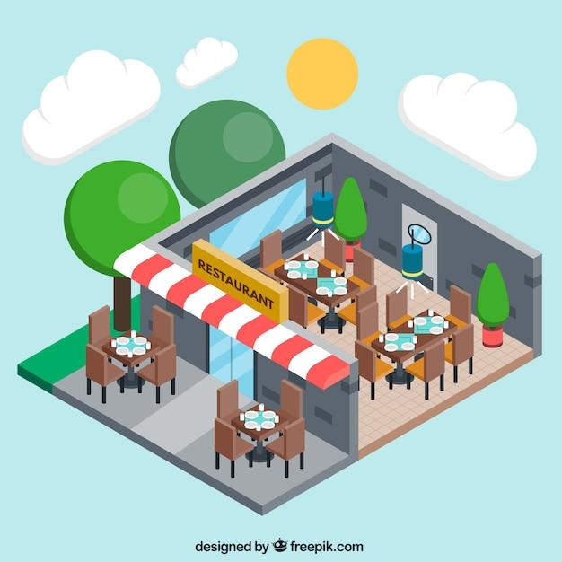Three Dimensional Restaurant Vector Free Download
