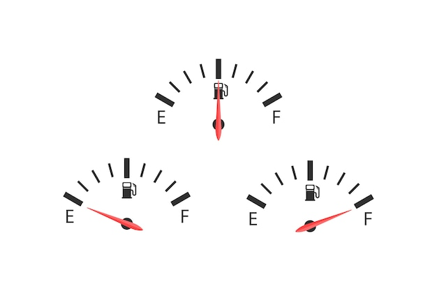 Three fuel figures Premium Vector