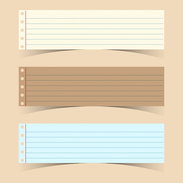 Three line papers on pink background Vector Premium Download