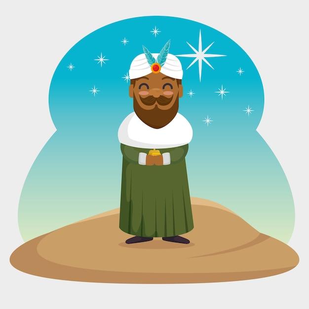 Три волшебных короля baltasar мультфильм Premium векторы