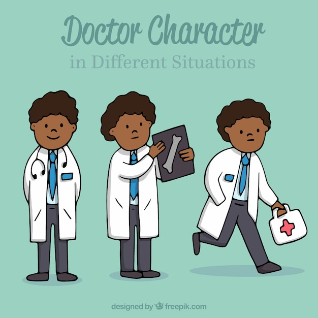 Three male doctor characters