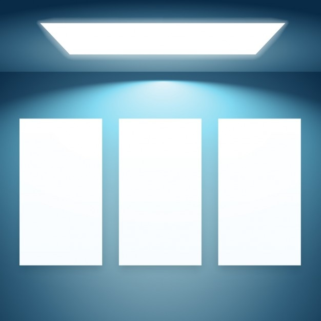 Three Presentation Frames With Lights Vector Free Download