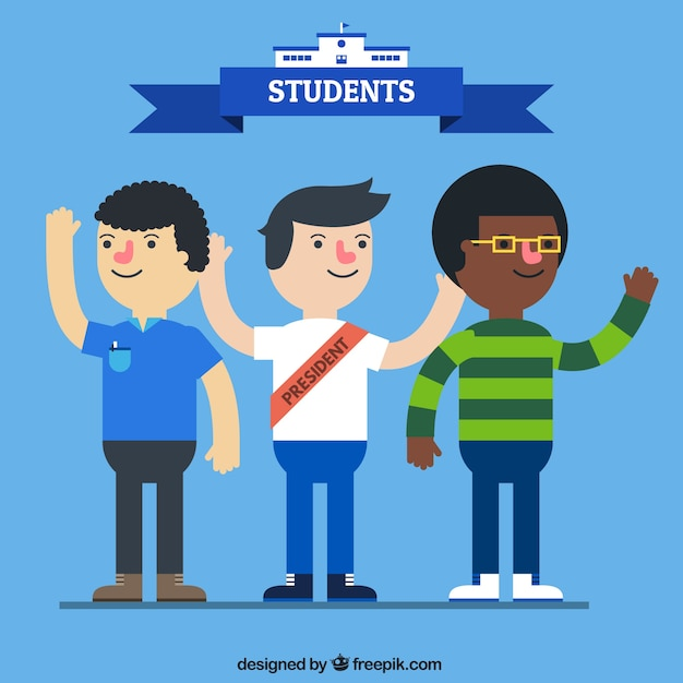 three students pack vector | free download