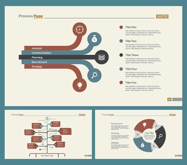 Three Teamwork Slide Templates Set
