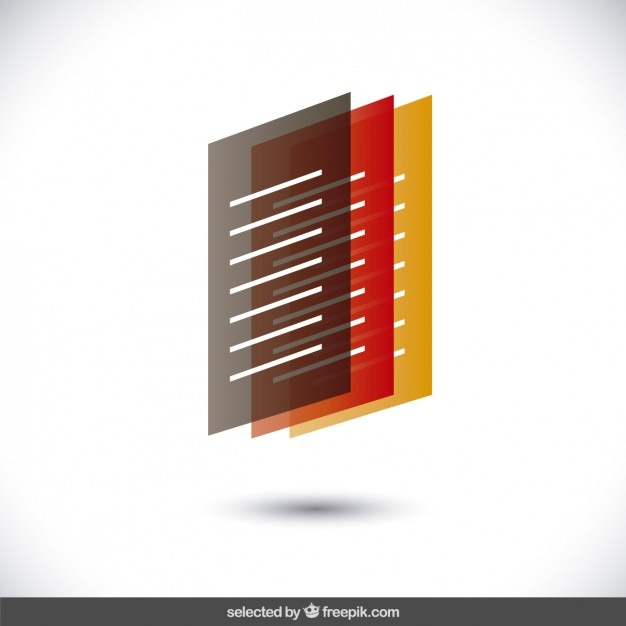 Three translucent letters Free Vector