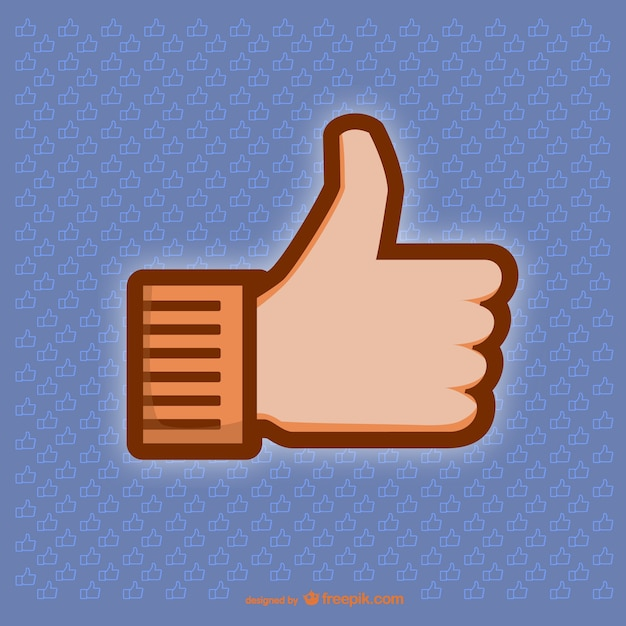 Thumbs up illustration Free Vector