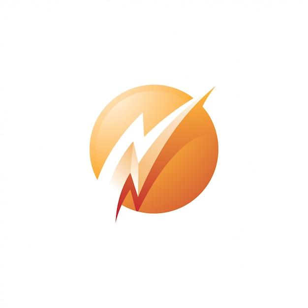 サンダーボルトライトニングアイコンエネルギーロゴ Premiumベクター