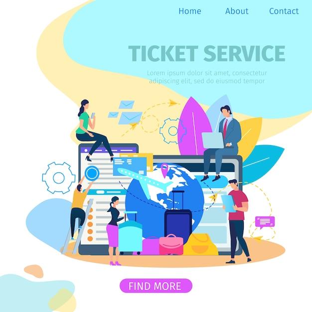 Служба бронирования билетов flat vector веб-баннер Бесплатные векторы