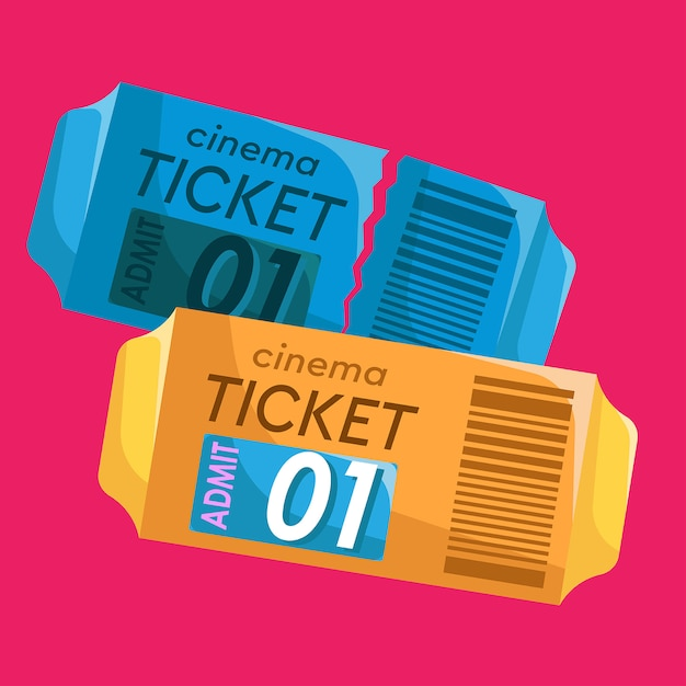 Ticket cinema Premium Vector