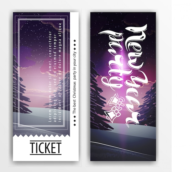 ticket template for a new year party premium vector