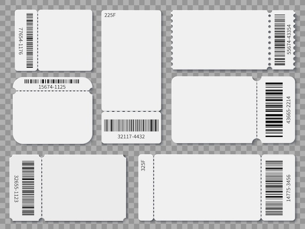 Premium Vector Ticket Templates Blank Admit One Festival Concert Theater Raffle Tickets And Coupons