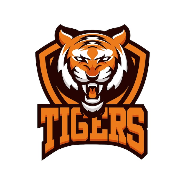 TIGER animal sport mascot head logo vector Vector ...