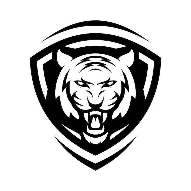 tiger animal sport mascot head logo vector premium vector