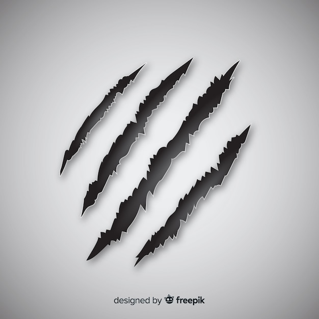 Tiger claws mark background Free Vector