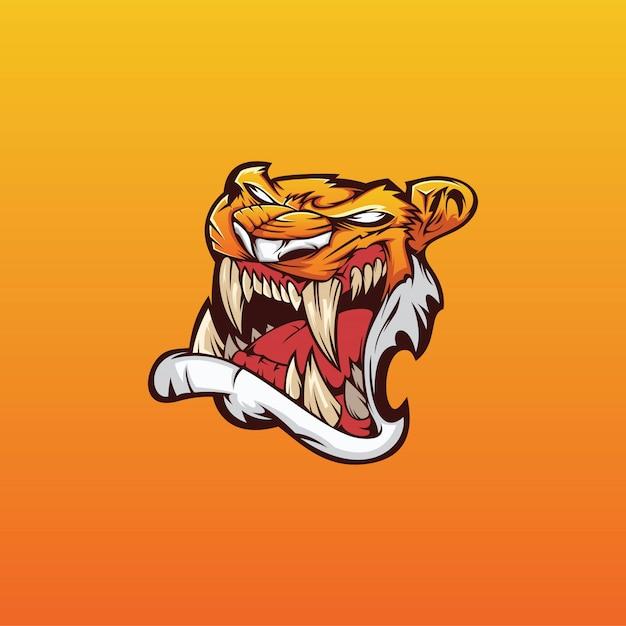 Tiger esport logo vector Premium Vector